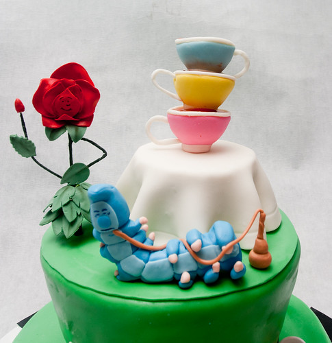 Alice in Wonderland Cake: The Top of the Cake