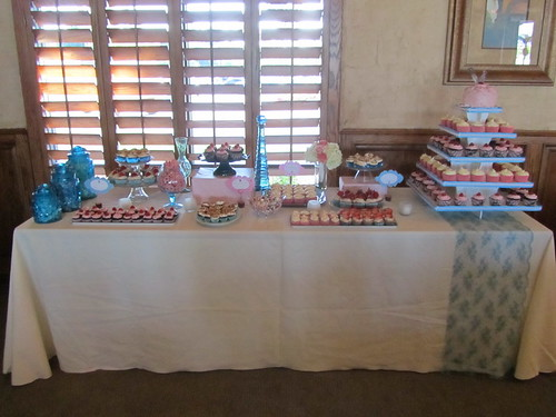 Pink and Blue Cupcake Table
