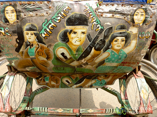 Bollywood Version of Rambo? Rickshaw Art in Rajshahi, Bangladesh