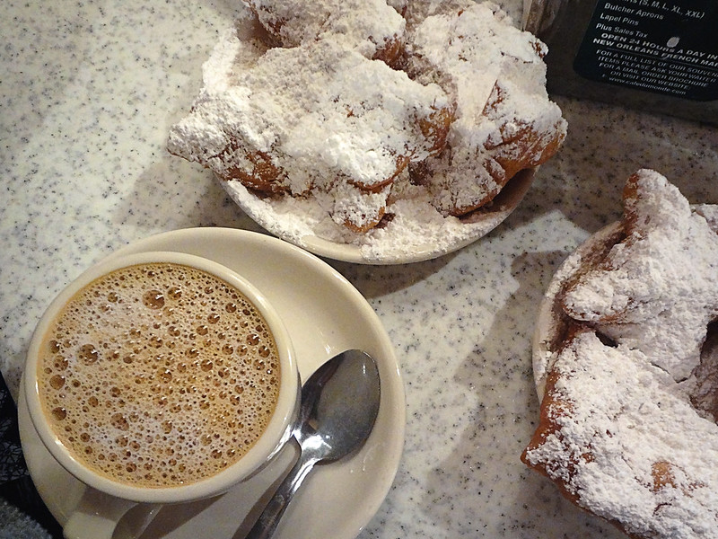 coffee + beignets.