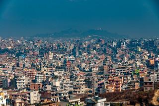 Kathmandu as seen from Kirtipur