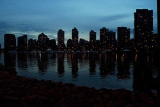 Refelections - Vancouver Waterfront Nightscape