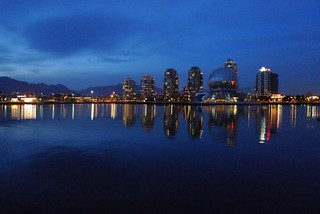 Vancouver at Night - Waterfront skyline