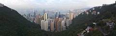 Panorama of Hong Kong Island, Harbour and Kowloon from Victorial Peak