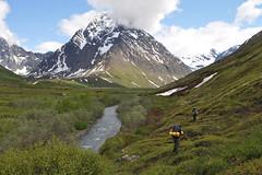 Peters Creek backcountry beneath Mt. Rumble. Chugach Mountains, Alaska