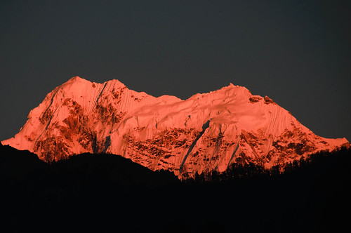 nepal alpenglow manaslu