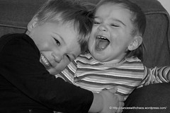 A perfect moment between siblings