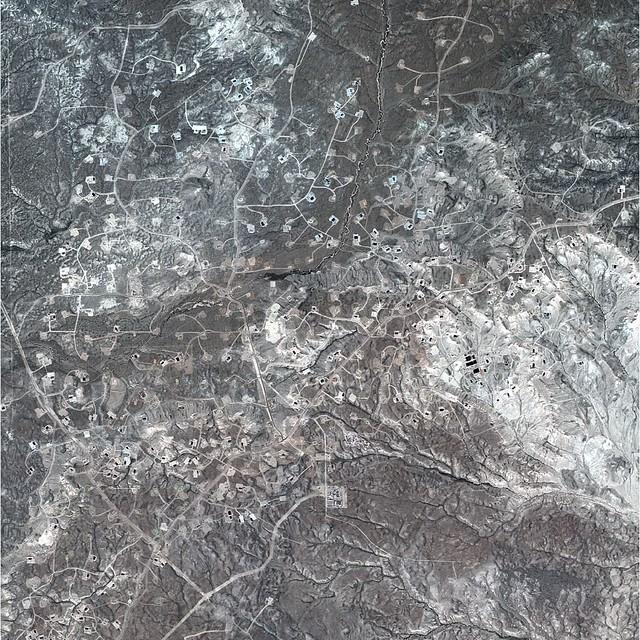 Natural Gas Satellite Image