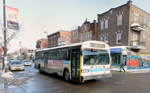 Montreal STM 97 bus at Drolet and Mont-Royal