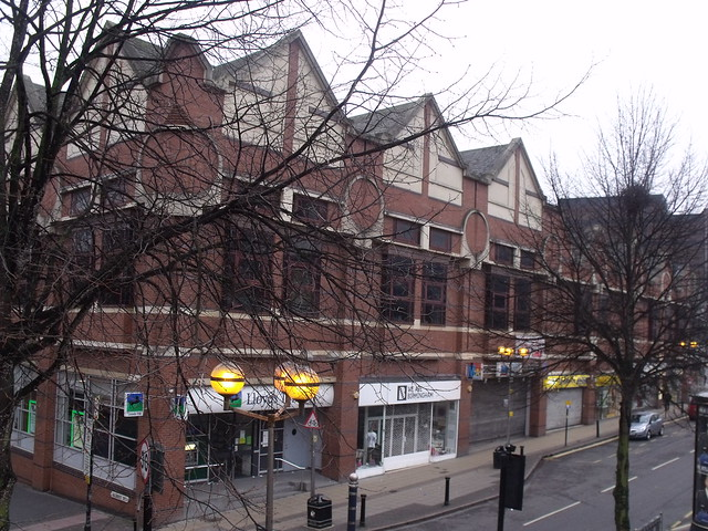 Shops in Dale End - Postmodern block