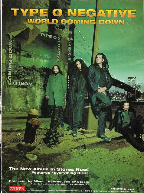 1999 Type O Negative World Coming Down Ad (#2)