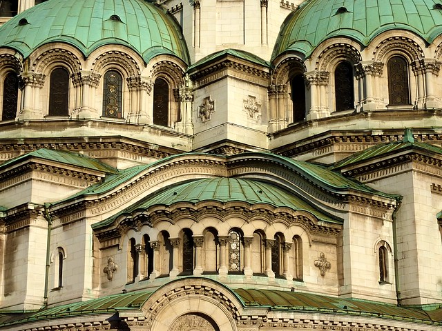 Detail at the Alexander Nevsky Cathedral