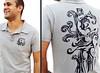 Camisa São Sebastião da Benzadeus, gola polo.