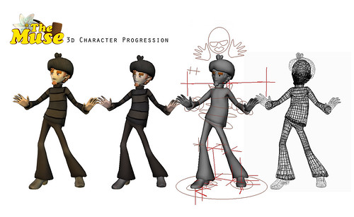 Cartoon Character Design Process : Sketchbook d character development