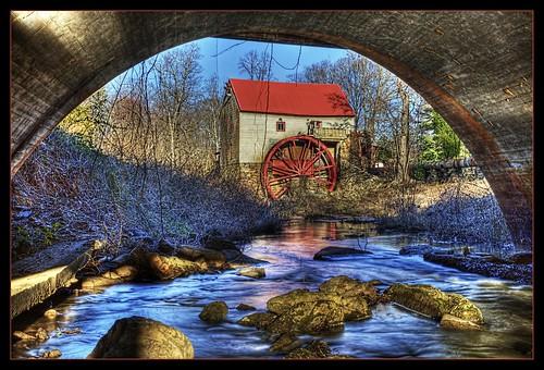 mill nc corn northcarolina historic gristmill photomatix oldmills oldmillofguilford guilfordmill