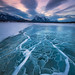 Abraham Lake Winterscape by Chip Phillips