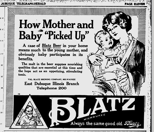 1916 Blatz Beer good for mother and baby