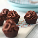 Chocolate cups with chocolate mousse by Raiza Costa