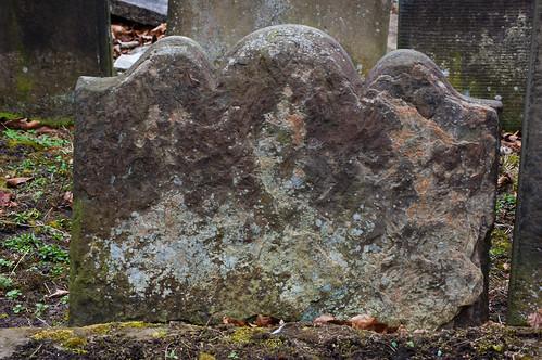 Lichen on gravestone: Bushbury