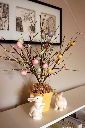 how to make an easter tree life at cloverhill. Black Bedroom Furniture Sets. Home Design Ideas