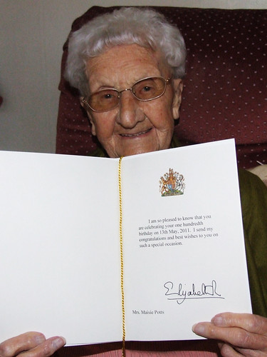 Birthday Card from the Queen
