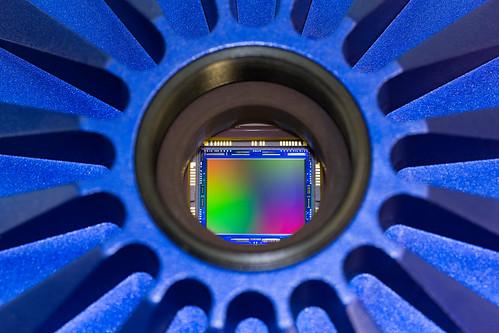 ZEISS Axiocam 506: View of image sensor inside the camera