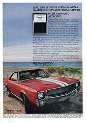 1969 Remington Shaver AMC American Motors AMX Advertisement Road & Track December 1968