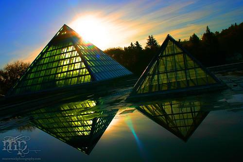 Muttart Conservatory Sunrise, Sep 25, 2004