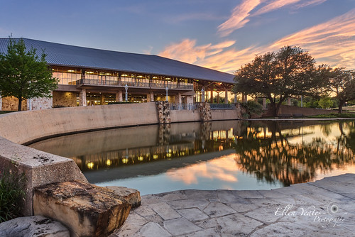 sunset sky reflection building tree water canon austin landscape ellen spring texas events center scene palmer explore event after barton yeates explored
