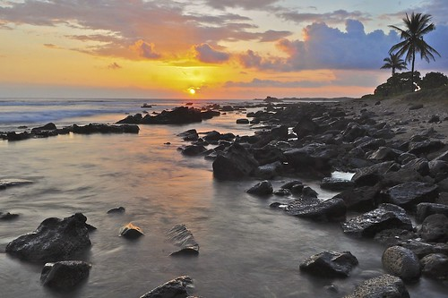 Sunset, North Kona, Big Island, Hawaii.