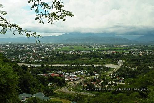 bridge river indonesia town northsulawesi sulawesi celebes gorontalo northcelebes