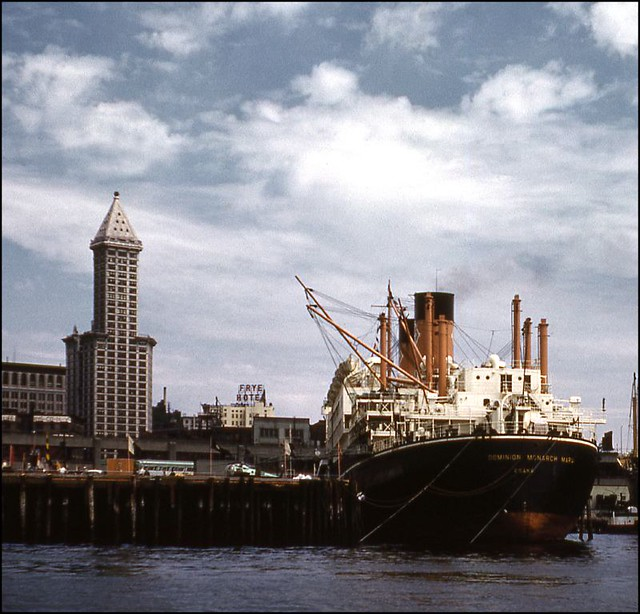 Dominion Monarch Maru & Smith Tower, July 1962