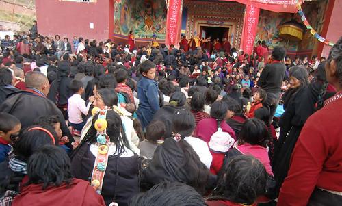 Prayer festival organized by Gebchak nuns