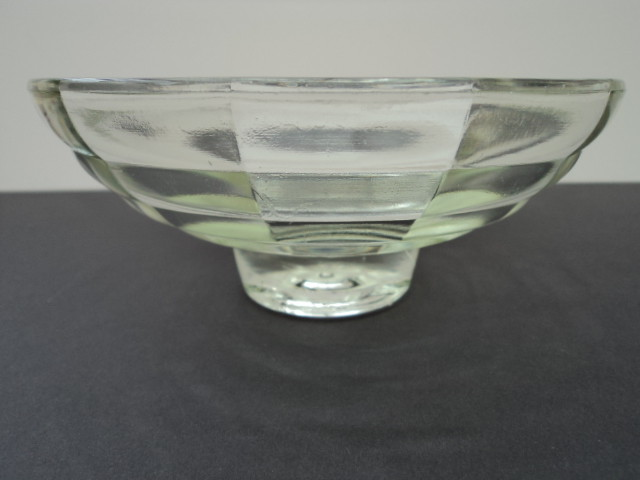 Beautiful Vintage Clear Glass Fruit Bowl