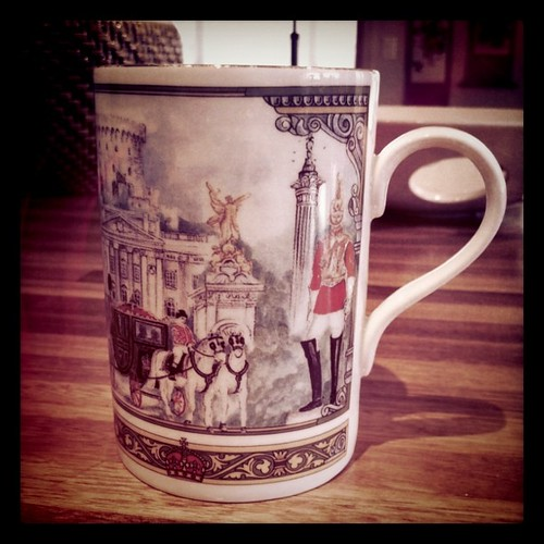 My usual tea cup. Though this morning it feels a little extra twee.