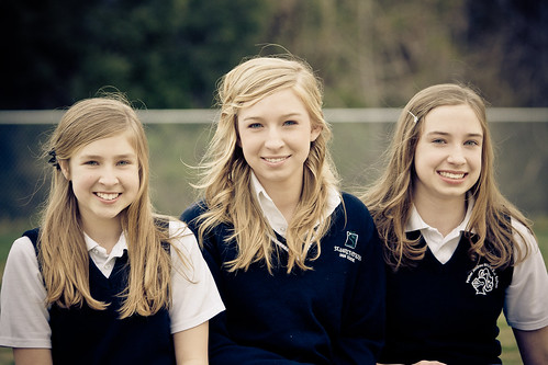 blue school girls sunset portrait beautiful smile face hair evening eyes catholic sony maryland skirt highschool blonde alpha middleschool unifrom mattingly leonardtown 2011 dslra700 gregoryhughdavidson ghdphotographydesign