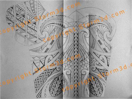 Shoulder Tribal Tattoo Design