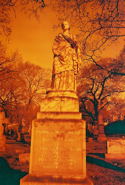 Monument in St. Agnes Cemetery, in Redscale