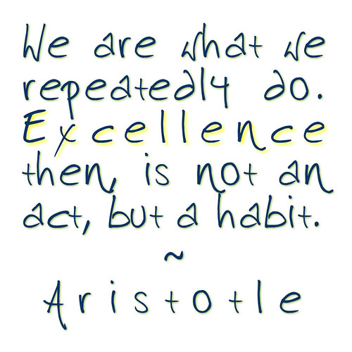 aristotle quote blue