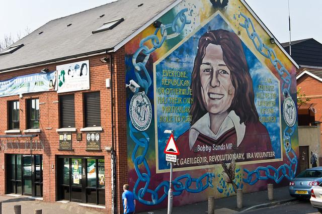 Belfast city murals bobby sands i took a bus tour in for Bobby sands mural belfast