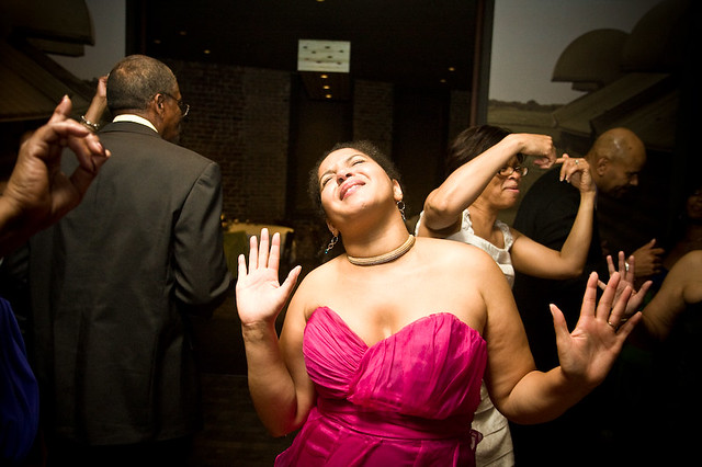 Tiffany Brown in her element at her wedding reception/the party of the year, #nerdwedding11.