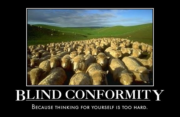 society is a conformist environment with Lecture 6: the sociology of anomie: conformity and deviance the social psychological study of conformity examines the pressures on individuals to conform to behavior on large-scale variations in the environmental features of society.