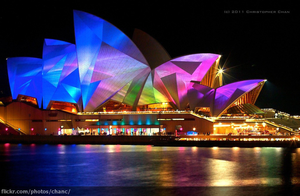 Lighting The Sails, Vivid Sydney 2011
