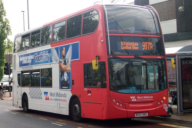 National Express West Midlands Alexander Dennis Enviro400 4763 (BV57 XKG)