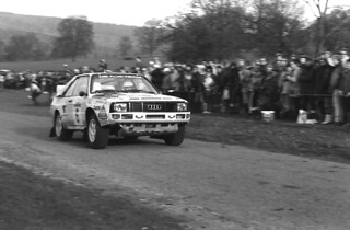 Michele Mouton/Fabrizia Pons. Audi Quattro Sport. Chatsworth House, 1984 RAC Rally, UK.