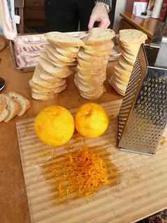 Grating Oranges for French Toast
