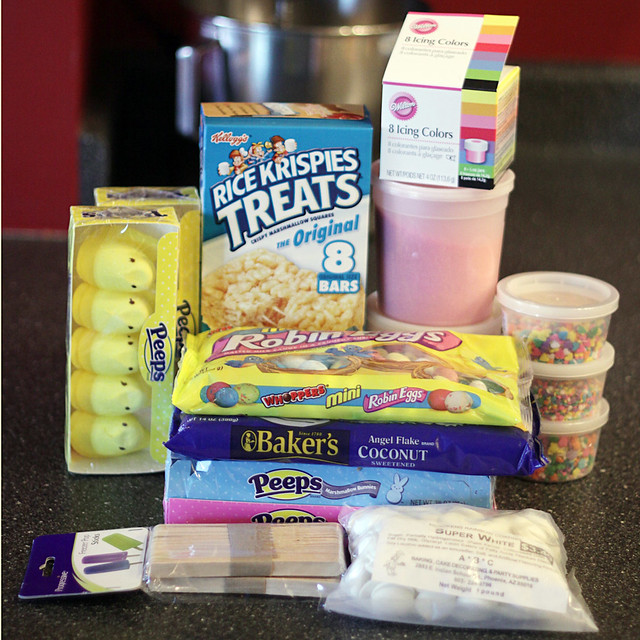 ingredients for peeps rice krispy treats | By Love From The ...