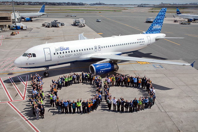Boston Crewmembers Celebrate 100 Daily Flights