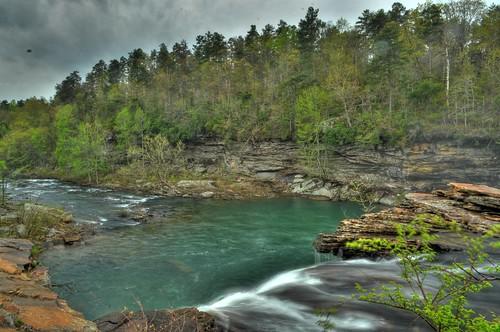 waterfall littlerivercanyon lookoutmountain hdr littleriver dekalbcounty cherokeecounty fortpaynealabama littleriverfalls littlerivernationalpreserve
