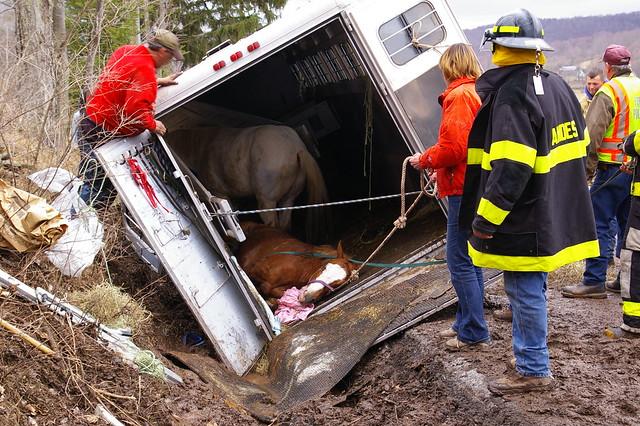 En cas d'accident, appelez les secours et ne soyez pas tentés d'intervenir.